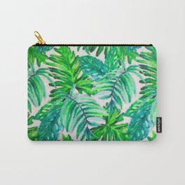 Abstract Leaf Painting Carry-All Pouch
