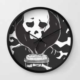 First Coffee in the Mourning Wall Clock