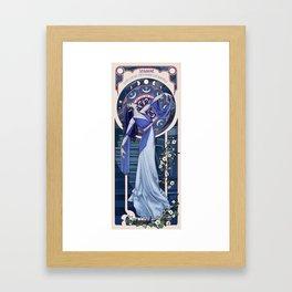 Nouveau Priestess of Sehanine Framed Art Print