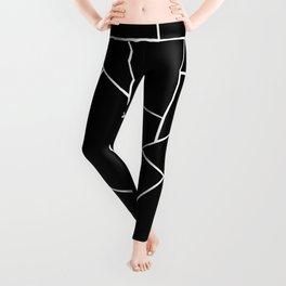 Black White Geometric Glam #2 #geo #decor #art #society6 Leggings