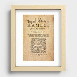 Shakespeare, Hamlet 1603 Recessed Framed Print