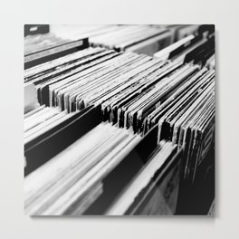 record albums music aesthetic elegant mood art photography  Metal Print