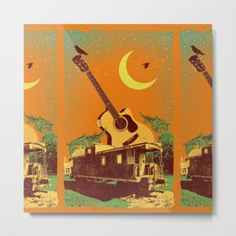 EVENING GUITAR Metal Print