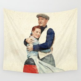 The Quiet Man - Watercolor Wall Tapestry