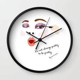 """It's not always pretty to be pretty """"Face No.1"""" Wall Clock"""