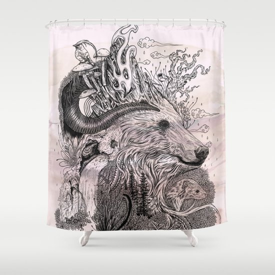 Forest Warden Shower Curtain