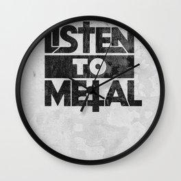 Listen to Metal Wall Clock