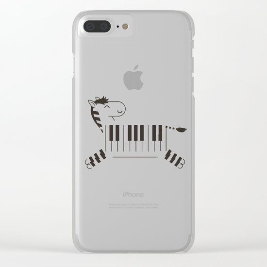 Life is like a piano Clear iPhone Case