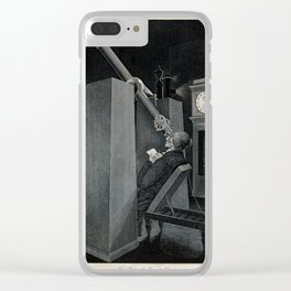 Astronomer recording the Transit of Venus Clear iPhone Case