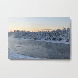 Steamy Chena River Metal Print