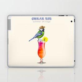 Great Tit Summer Chill Laptop & iPad Skin