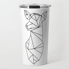Geometric Doe (Black on White) Travel Mug