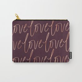 Burgandy Love Carry-All Pouch