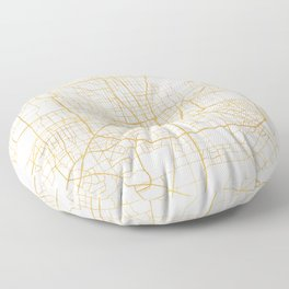 HOUSTON TEXAS CITY STREET MAP ART Floor Pillow
