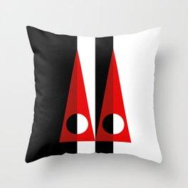 A GEOMETRICAL SUSPECT Throw Pillow