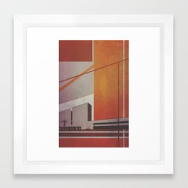 Orange Abstract Building Framed Art Print