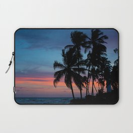 """Travel Photograph """"Sunset on the beach in Bahia, Brazil, with palm trees against a purple sky"""" Fine art color photo print. Wall art.  Laptop Sleeve"""