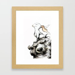 Feel the wind in your ears Framed Art Print