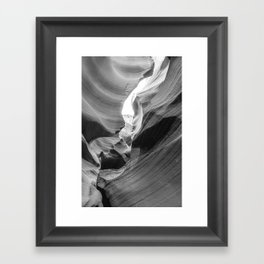 ANTELOPE CANYON V (B+W) Framed Art Print