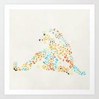 cheetah Art Prints featuring Cheetah by leeas