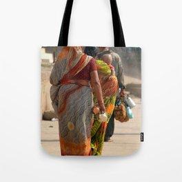 Walking Along the Ghats Tote Bag