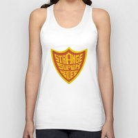 super heroes Tank Tops featuring STRANGE SUPER HEROES by yhello designer