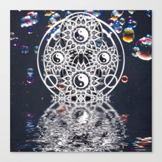 Yin Yang Symmetry Balance Reflection Canvas Print