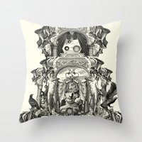 rome Throw Pillows featuring Rome by DIVIDUS