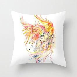 Phoenix Watercolor Throw Pillow