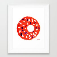 doughnut Framed Art Prints featuring Doughnut by Myles Hunt