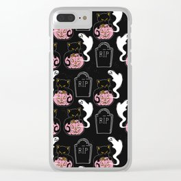 Grave Kitten Clear iPhone Case