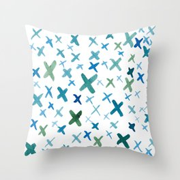 Painted X Throw Pillow