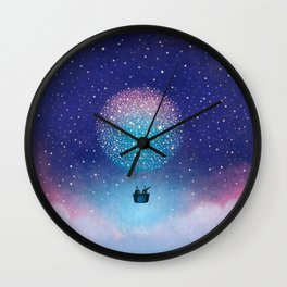 Stars Balloon Wall Clock