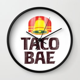 Taco Bae Vintage Print Wall Clock