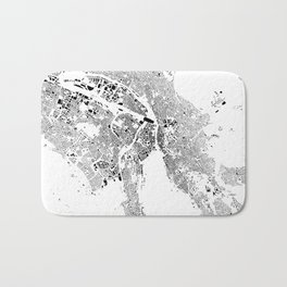 Zurich Schwarzplan Map Only Buildings Bath Mat