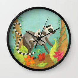 Babies on Backs Wall Clock