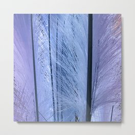 Lilac-esque and Aqua-Blue Feather Art Metal Print