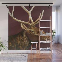 Big Bull Elk Profile Wall Mural
