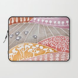 Tatry mountains, sheep watercolor landscape nature Laptop Sleeve