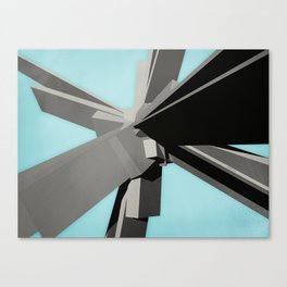 Abstract Rectangular Slabs Canvas Print