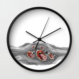 THE ALL MIGHTY GALACTIC LEGION OF SHINY LIPS Wall Clock