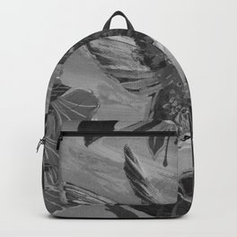 Black and White Hummingbird Backpack