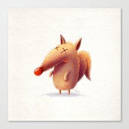 Monday fox Canvas Print