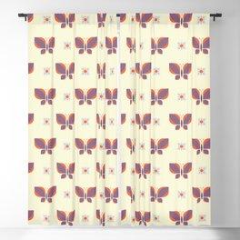 Geometric retro butterfly vector pattern design. Blackout Curtain