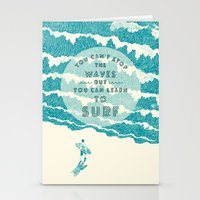 ilovedoodle Stationery Cards featuring You can't stop the wave by I Love Doodle