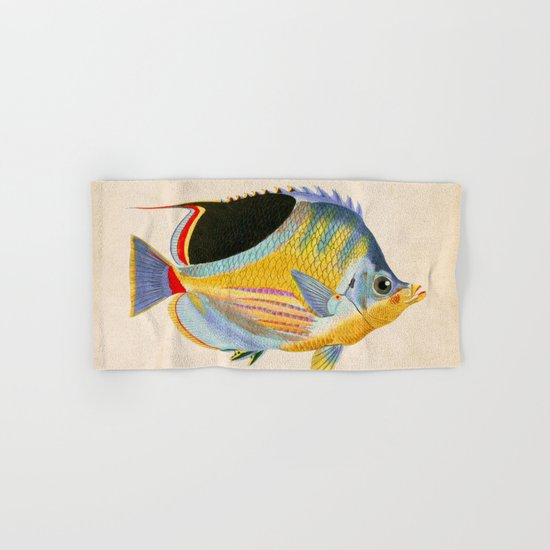 Yellow Fish Hand & Bath Towel
