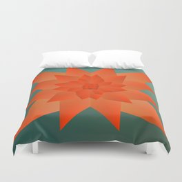 Origami Forest Birds  Duvet Cover