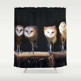 Owls the family Shower Curtain