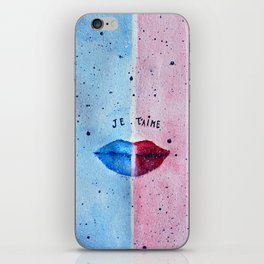 """Je T'aime"" (I love you) - Original Artwork by Denise Sagun iPhone Skin"