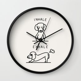 Inhale Exhale Dachshund Wall Clock